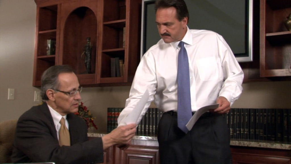 Two Lawyers Discussing a Case